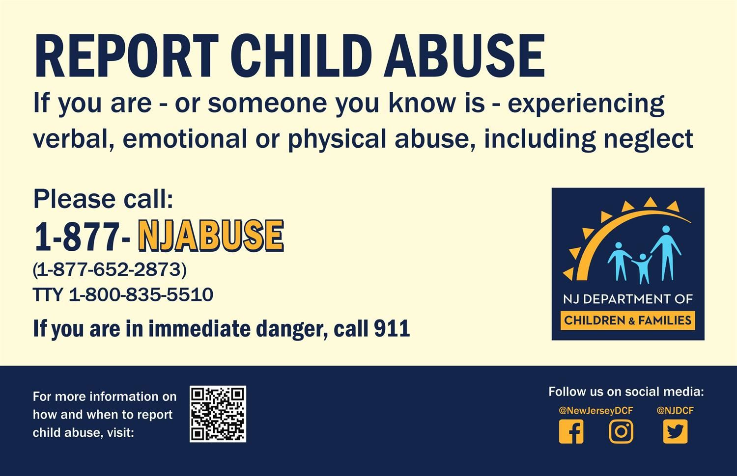 NJDCF Abuse Hotline: 1-877-NJABUSE