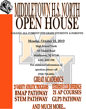 Thumbnail image of 8th Grade Open House flyer
