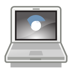 clip-art image of a chrome-book