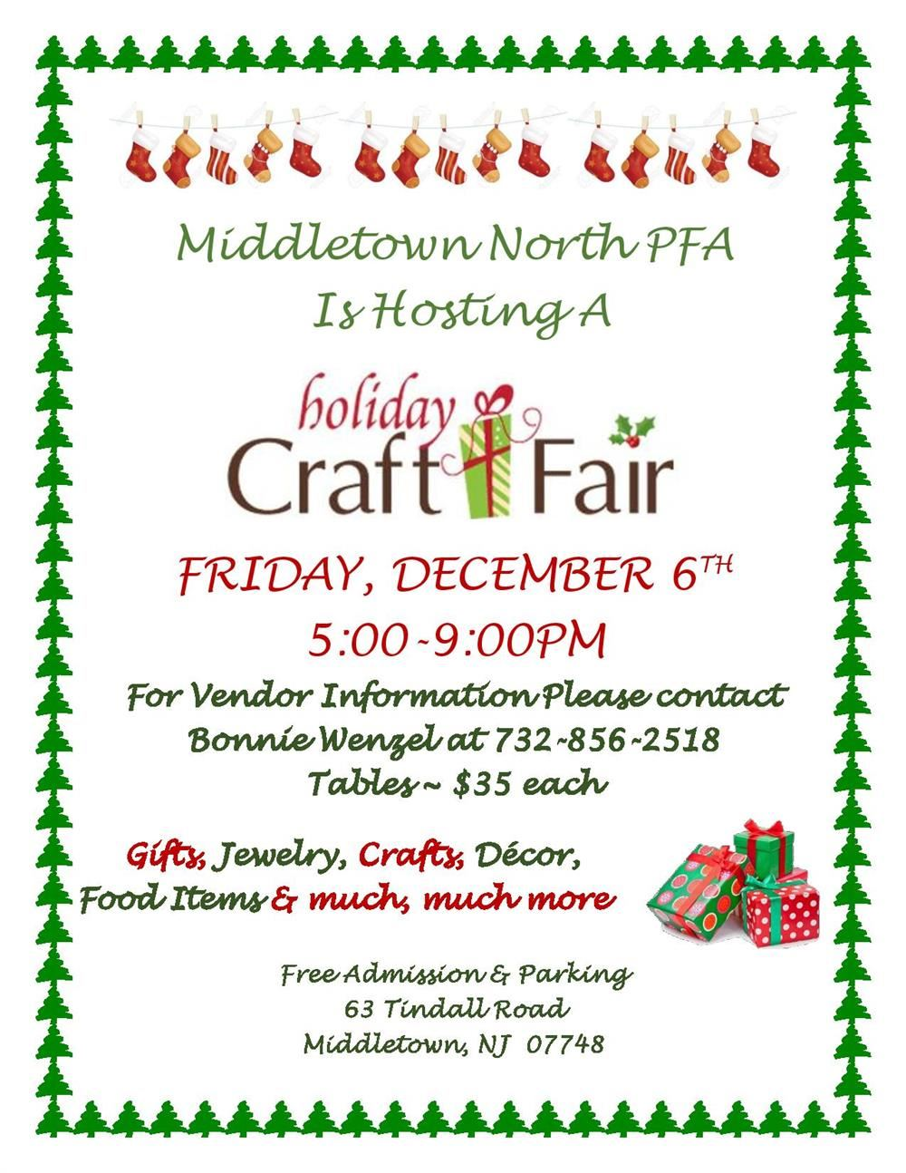HSN PFA Holiday Craft Fair Information page thumbnail image