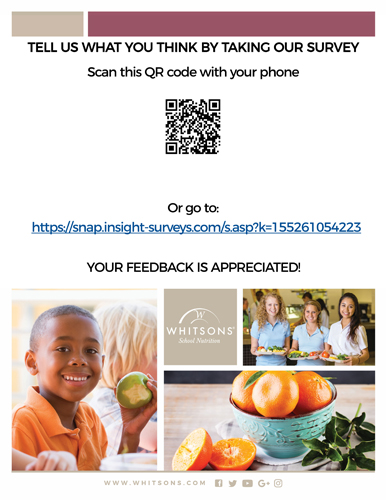 Whitsons 2019 School Nutrition Survey (click here)