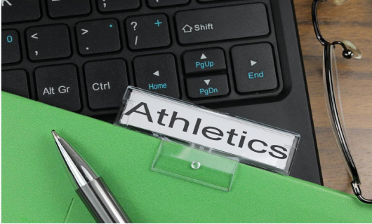 picture of a tab labeled athletics-  CC BY-SA 3.0 -Alpha Stock Images - http://alphastockimages.com