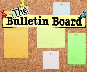 picture of a bulletin board