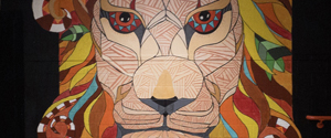 lion wall painting