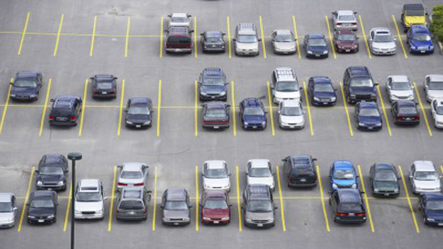 picture of cars in a parking lot