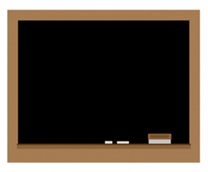picture of a school chalk board