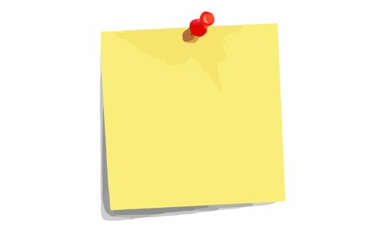 picture of a sticky note (CC license no attribution required)