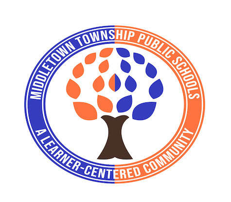 This image depicts the District's seal, a blue and orange circle with a tree in the middle.
