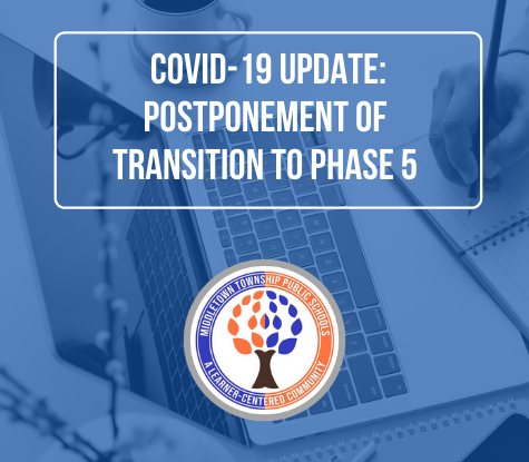 COVID-19 Update: Postponement of Transition to Phase 5