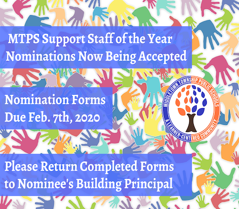 MTPS Support Staff of the Year Nominations Now Being Accepted